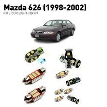 Светодиодные внутренние светильники для mazda 626 1998-2002 12 шт. светодиодные фонари для автомобилей комплект освещения автомобильные лампы Canbus
