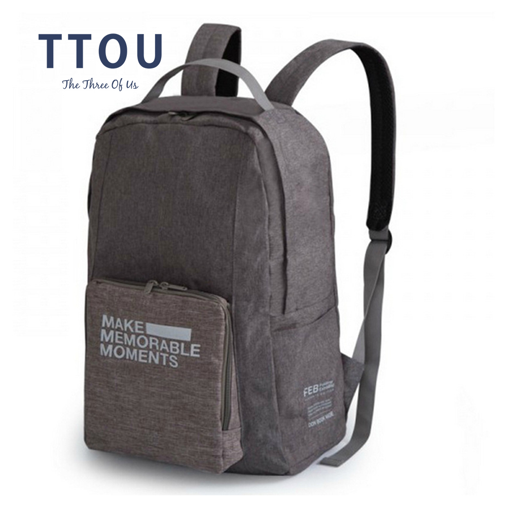 TTOU Large Capacity Traveling Bag Waterproof Polyester Luggage Travel Backpack Ladies Foldable Rucksack Fashion Backpack