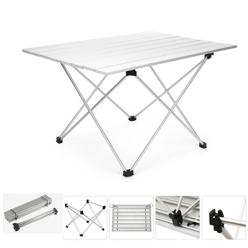 Us 29 49 Size L 68 45 8cm Outdoor Aluminum Folding Collapsible Tableware Camping Fishing Table With Carrying Bag For Picnic Beach In