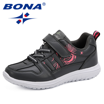 BONA 2019 Spring Autumn Children Shoes Girl Sports Shoes Fashion Brand Casual Breathable Outdoor Kids Sneakers Boy Running Shoes cctwins kids 2018 spring mesh breathable fashion sneaker children boy brand sport shoe baby girl brand casual trainer f2223