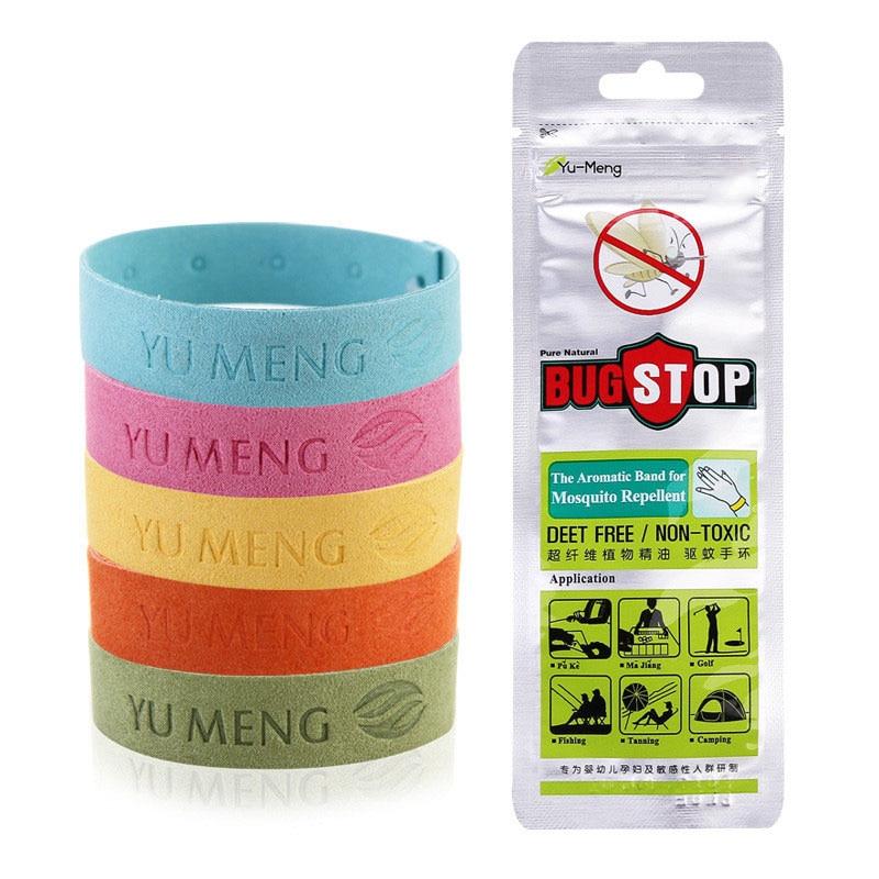 5pcs Ultra fiber insect repellent bracelet essential oil anti mosquito bracelet natural harmless bedroom outdoor children belt-in Repellents from Home & Garden