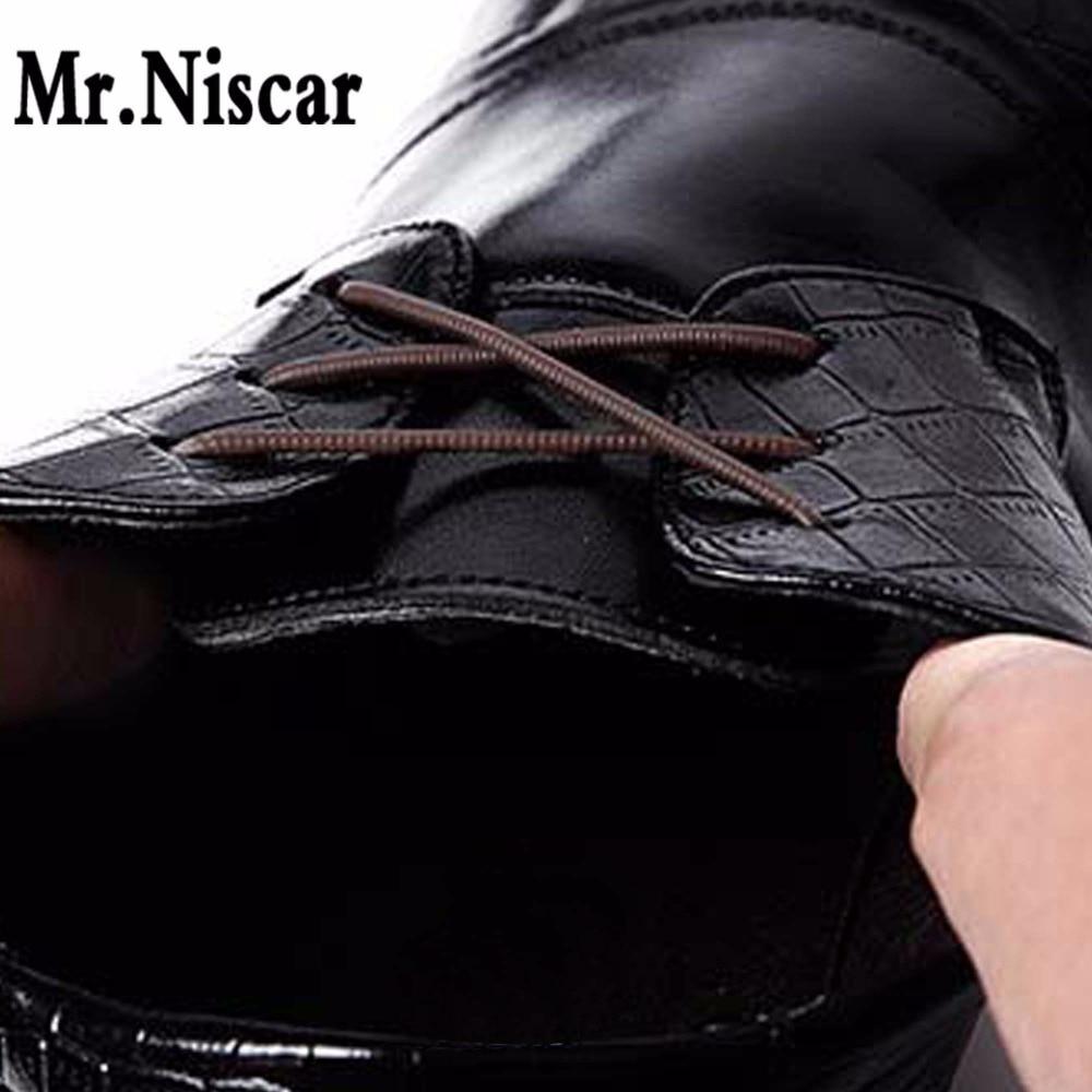 Mr.Niscar 1Set/10Pcs Size 30-50mm Elastic Silicone Shoelaces Fit for All Unisex Strap Business Leather Shoes No Tie Shoelaces