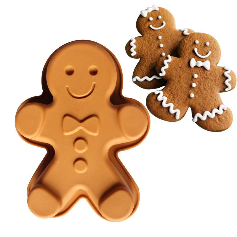small size Ginger Man Silicone Muffin pan Jell Moulds cake mold baking tools