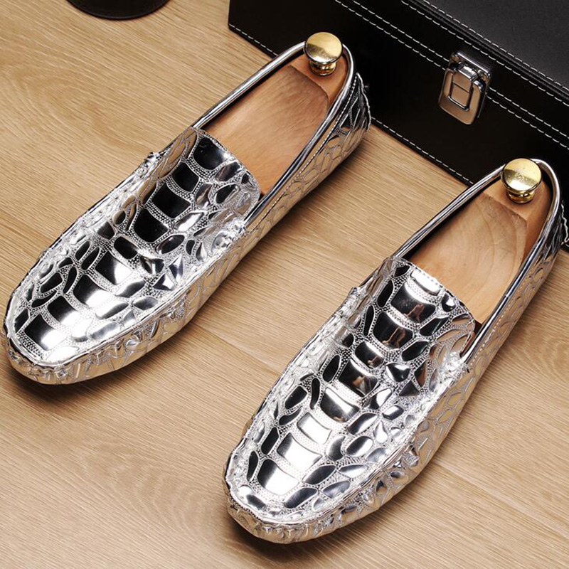 italian design men famous patent leather shoes party prom dress slip-on lazy driving oxfords shoe young gentleman loafers zapato 2
