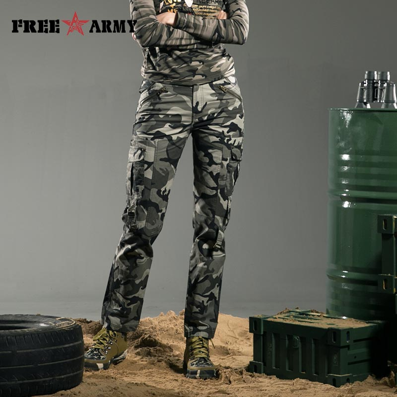 FreeArmy-merkki Winter Women -housut Cotton Straight Slim Military Camo -housut Rento naamiointihousut & Capris Outdoors Gk-9377B