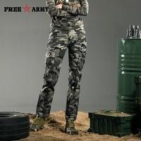 FreeArmy Merk Winter Vrouwen Broek Katoen Straight Slim Militaire Camo Broek Casual Camouflage Broek & Capri Outdoors Gk-9377B