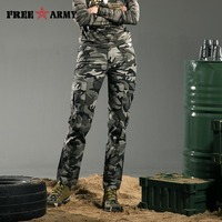 Free Army Brand New Women S Camouflage Pants Cotton Straight Military Hunting Pants Casual Camouflage Trousers