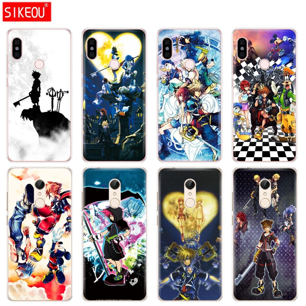 Silicone  Cover phone  Case for Xiaomi redmi 5 4 1 1s 2 3 3s pro PLUS redmi note 4 4X 4A 5A Anime Kingdom Hearts Style