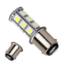 1157 BA15D P21W 18 SMD 5050 13 LED Brake Turn Signal light Bulb Lamp white Auto led car light source parking lights 12V