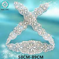 (1 PC) strass appliques pour ceinture de mariage argent or cristal perles fer coudre sur strass appliques pour robes de mariée WDD0209