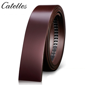Image 5 - Catelles No Buckle 3.5cm Wide Real Genuine Leather Belt Without Automatic Buckle Strap Male Designer Belts Leather Belt Men 6045