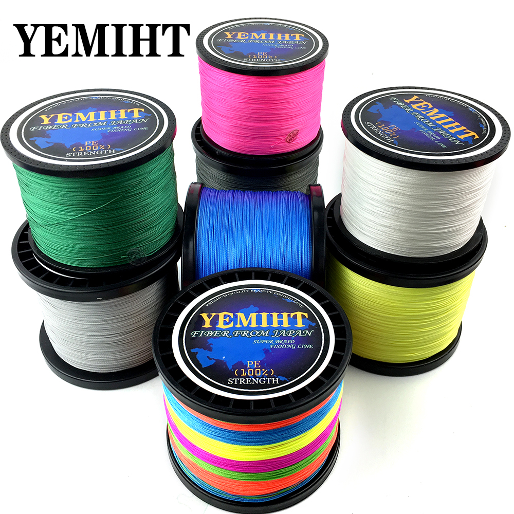 YEMIHT Braid Fishing line 300M 500M 1000M 4/8 Strands Multifilament Fishing Wire Carp Fishing 10-120lb
