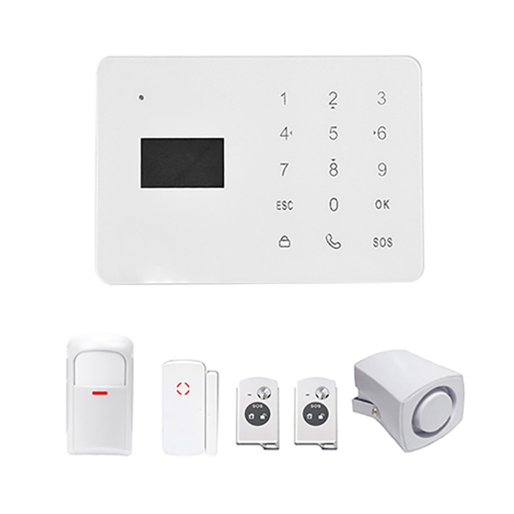 где купить DANMINI 433mhz Wireless Remote Control GSM Alarm System Home Security GSM Alarm System IOS/Android APP Smart Voice gsm alarma по лучшей цене