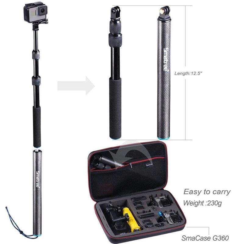 Smatree S3 取り外し可能な拡張可能なフローティングポールヒーロー Fusion7/6/5/4/3 +/ 3/セッション/DJI OSMO アクションカメラ  グループ上の 家電製品 からの スポーツ ビデオカメラ ケース の中 3
