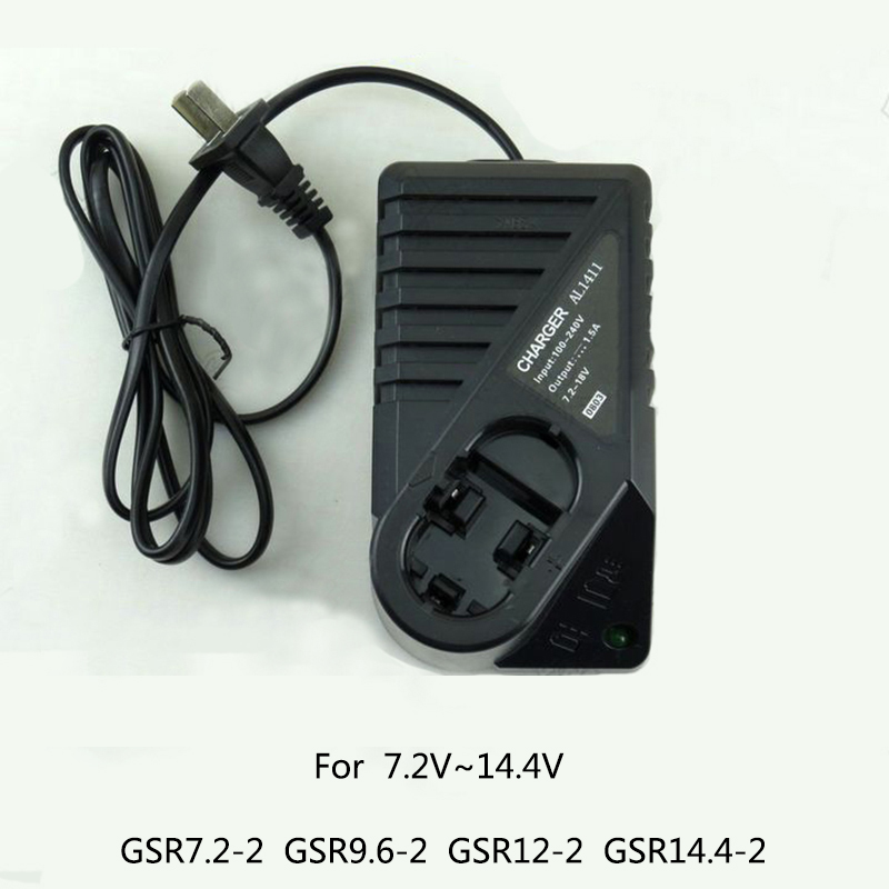 Boutique Battery Charger 7.2V~14.4V For Bosch GSR7.2-2  GSR9.6-2  GSR12-2  GSR14.4-2 NI-MH NI-CD etc tools Battery for bosch gsr 12v gli 12v ahs gsb gsr psr 12 12ve battery 1 5ah ni cd bat043 bat045 bat046 bat049 bat120 bat139 26073 35555