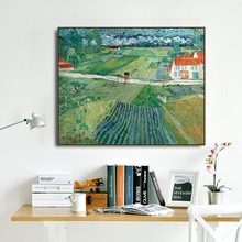 After Rain in Watts by Vincent Van Gogh Poster Print Canvas Painting Calligraphy Wall Picture for Living Room Bedroom Home Decor an angel in rrd with lute by da vinci wall picture poster print canvas painting calligraphy for living room bedroom home decor