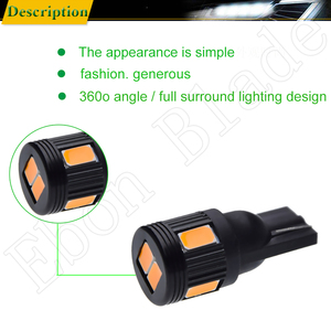 Image 4 - T10 W5W t 10 5w5 194 SMD Car Led Light Auto Interior Reading Clearance Side Wedge Bulb Lamp Yellow Orange Amber 12V Accessories