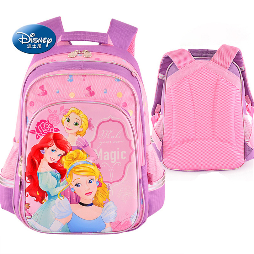 Disney Snow White Princess School Bags Protect the Spine Backpack Schoolbag Kids Backpack Ultralight School Bags for Girls