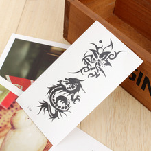 2pcs/Lot Cool Temporary Tattoo Tatoo For Man Woman Waterproof Stickers Makeup Maquiagem Make Up Dragon Totem Flower Tattoos