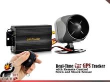 В режиме реального времени на линии автомобиля GPS трекер и автомобильная сигнализация GSM GPRS SMS система ( пульт дистанционного управления, сирена и датчик удара )