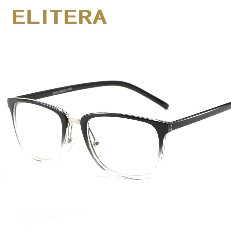 193b4f07c5 ELITERA 2018 new fashion brand women glasses frame Anti blue Rays Men women  TR90 glasses frame high quality vintage female gafas