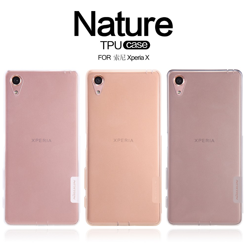 huge selection of 8716f 8037f US $9.69 |Nillkin Nature clean TPU protective case for sony xperia x phone  back cover soft compact silicon case for sony xperia x cover-in Phone ...