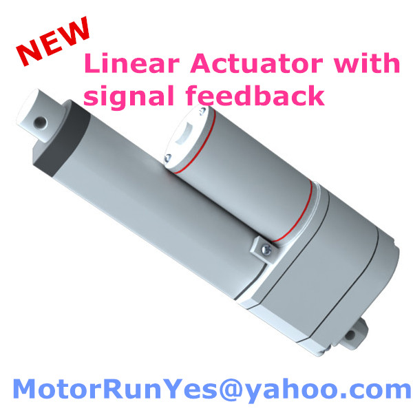 ФОТО 150mm stroke 12V 24V DC 900N=90KG=198LBS load mini electric linear actuator with potentiometer signal feedback