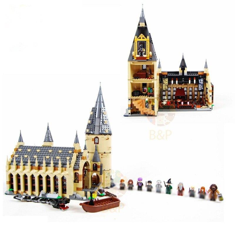 Nouveau Harry Potter Serices poudlard grande salle compatibilité Legoing Harry Potter 75954 blocs de construction briques jouets cadeau noël