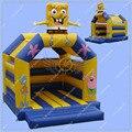 ГОРЯЧИЕ ПРОДАЖИ Надувные Губка Боб Надувной Замок для Детей, 4 м * 4 м Коммерческих Качество Надувные Прыжки Замок