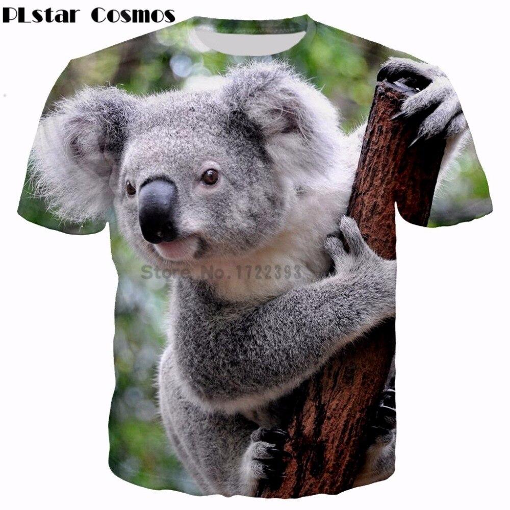 PLstar Cosmos 2018 summer new Fashion Animal T shirt ...