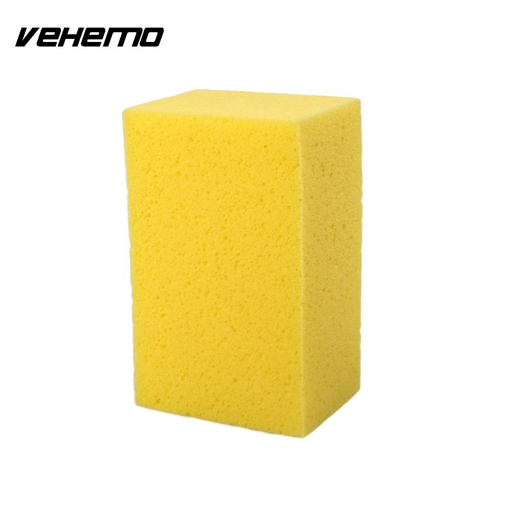 VEHEMO Hot Sale Practical Car Auto Washing Cleaning Soft Sponge Block Cleaner Wiper Yellow Remover Tools Patrs