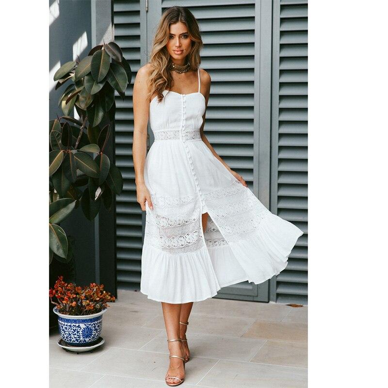 40ac5ee017 Conmoto Vintage blanco Floral impresión Vestido corto 2019 mujeres verano  elegante cuello en V vestido de