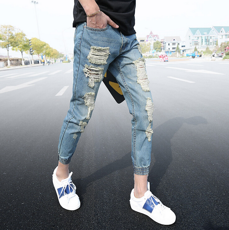 Popular Denim Ripped Jeans Men-Buy Cheap Denim Ripped Jeans Men