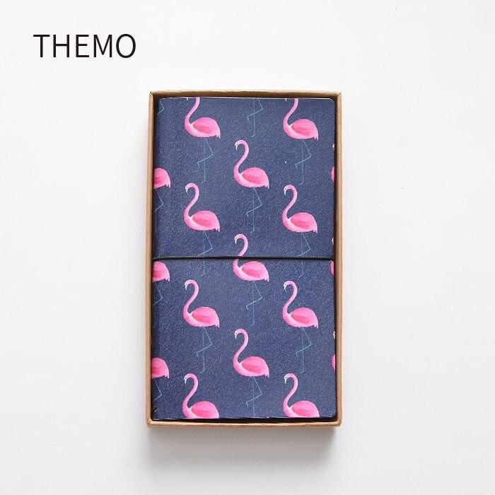 Japanse Kawaii Leuke Flamingo Cartoon DIY Notebook PU Leer Gebonden - Notitieblokken en schrijfblokken bedrukken - Foto 6