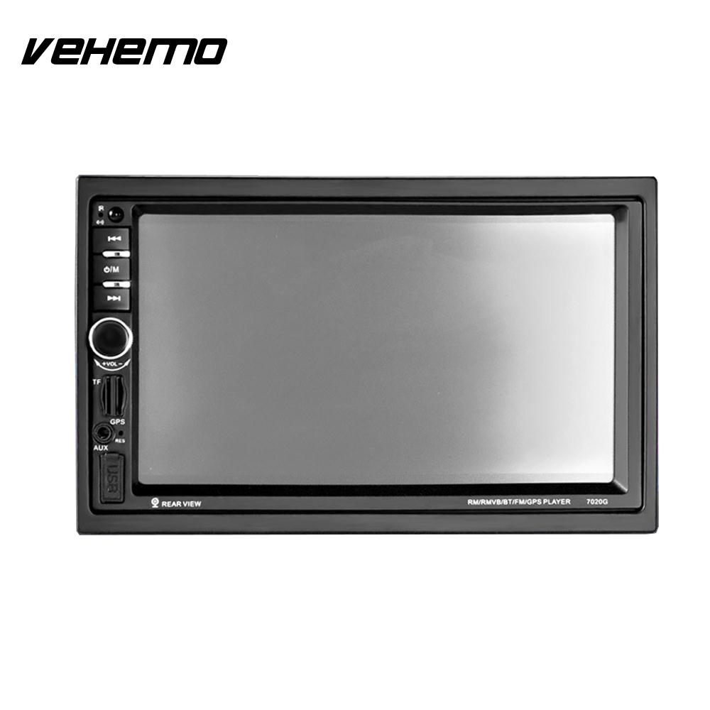 Vehemo Video Player Car MP5 Player Multimedia Player Bluetooth GPS Navigation Function 7 Audio Radio Support SD Card