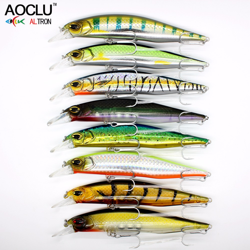 AOCLU 8 pcs/lot jerkbait lures wobblers 13.5cm 18.5g Hard Bait Minnow Crank fishing lure VMC hooks 8 colors lures free shipping 5pcs lot minnow crankbait hard bait 8 hooks lures 5 5g 8cm wobbler slow floating jerkbait fishing lure set ye 26dbzy