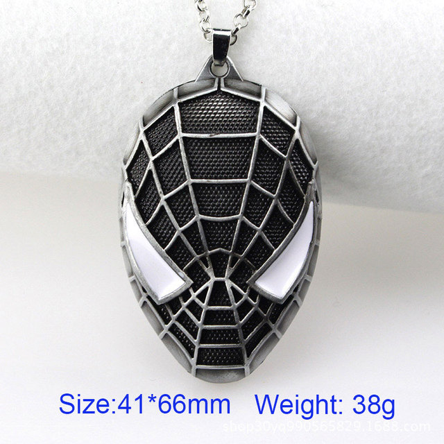 DICAYLUN Spiderman Necklaces Superhero Mask Pendant Necklaces Child Kids Jewelry Accessories Movie Choker Gifts For Men Boys