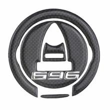 Gas Cap ADESIVI 3D CARBONIO PROTEZIONE per MOTO for 696