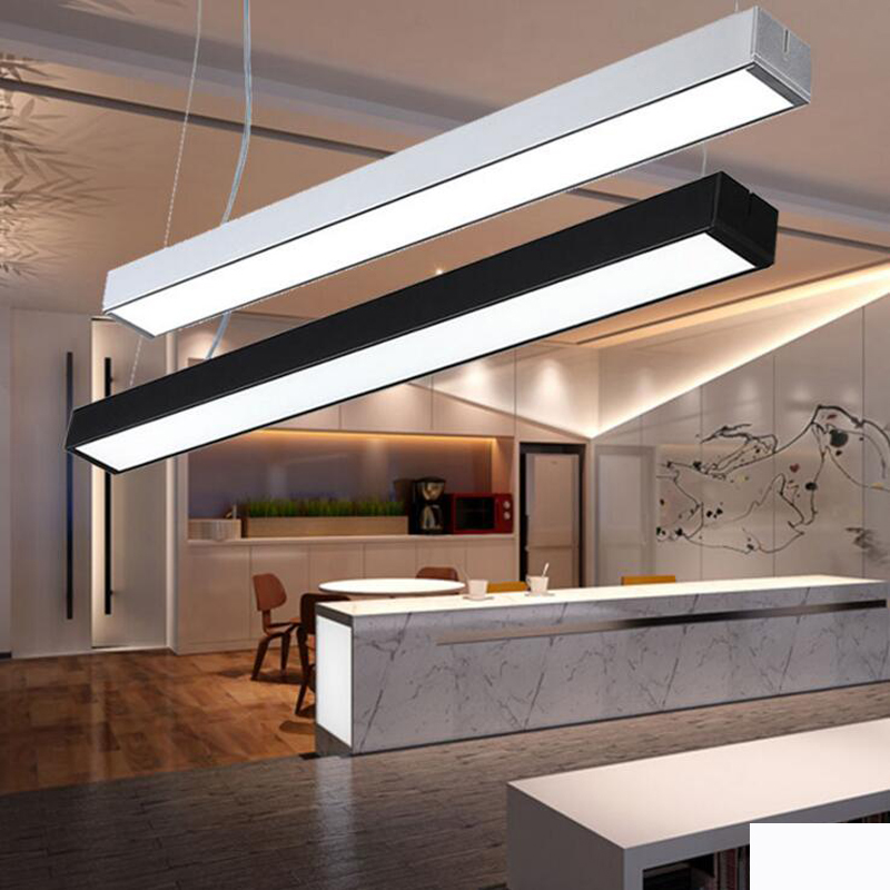 Office lights hanging line light can be stitched office line lamp modern simple office chandeliers bar lighting fixture led lamp цена