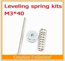 J340 3D printer Leveling components M3 screw Leveling spring Leveling knob suite free shipping
