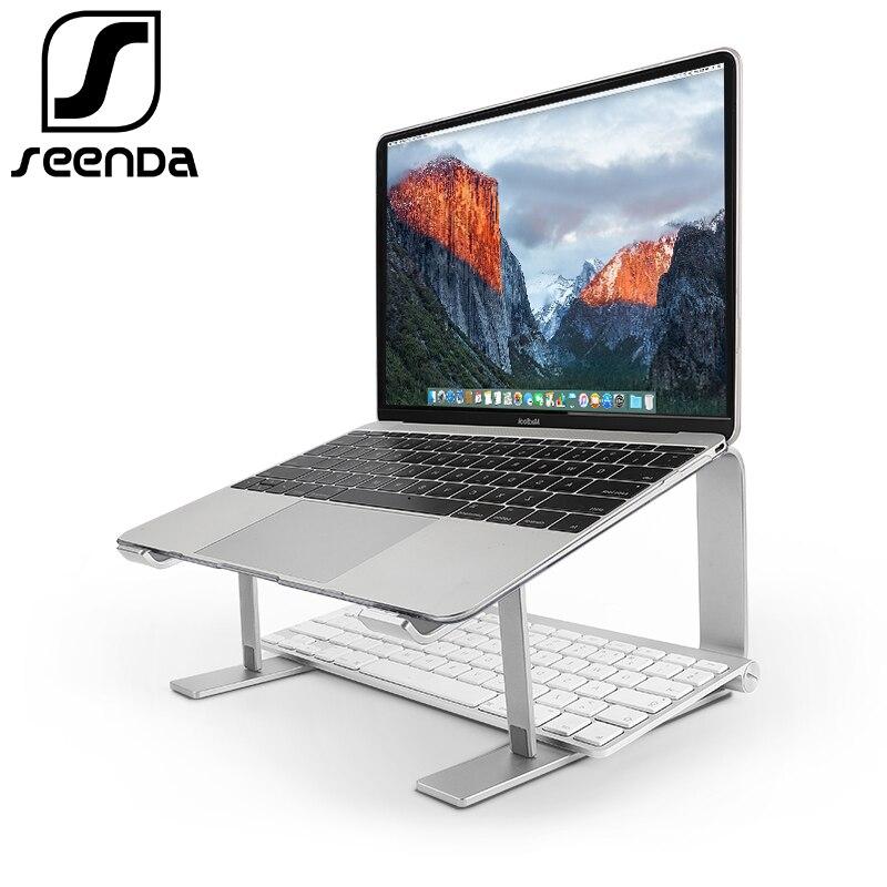 Bild av SeenDa Aluminum Laptop Stand Ergonomic Metal Cooling Notebook Holder for Mac book Air Pro Base Bracket for Laptop 10''-17''