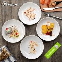 Cartoon Rabbit Theme Bone China Cake Dishes And Plates Porcelain Pastry Fruit Tray Ceramic Tableware For Steak Dinner Children
