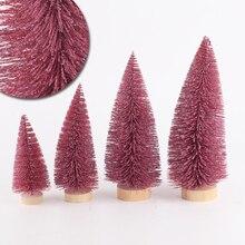 Рождественская елка 4 размера щетка для бутылок из сизаля маленькая искусственная сосна дерево кедр мини щетка для бутылок из сизаля Рождественская елка Санта, снег, мороз
