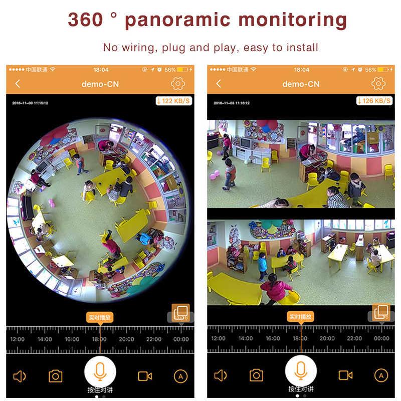 3MP wifi Toàn Cảnh 360 bằng máy ảnh Ánh Sáng Không Dây bóng đèn Fisheye Camera cctv Nhà Thông Minh 3D VR An Ninh Bóng Đèn baby monitor máy ảnh