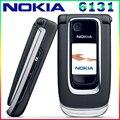 El envío libre abrió 6131 el teléfono móvil original nokia 6131 barato teléfono gsm cámara fm bluetooth de la buena calidad de múltiples teclados