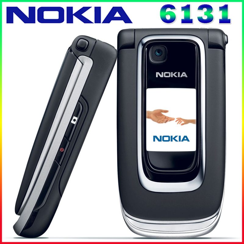 Free shipping Unlocked 6131 Original Mobile phone Nokia 6131 Cheap GSM Camera FM Bluetooth Good Quality