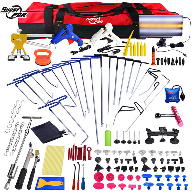 PDR Dent repair tools set PDR Rods Hooks Car Crowbar PDR Toolkit PDR Spring Steel Rods Paintless Dent Removal Tool Set