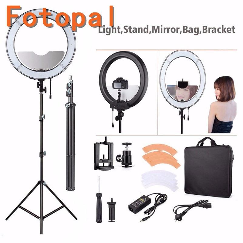 Fotopal Dim LED Fotoğraf Halka Işık Youtube Için Tripod Ayna Ile - Kamera ve Fotoğraf - Fotoğraf 5