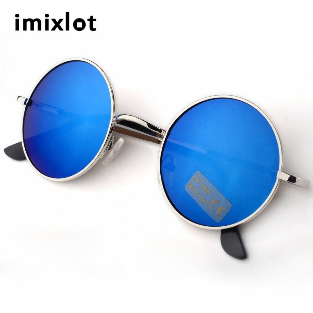 f169e1044d7990 IMIXLO Gothique Steampunk lunettes de Soleil Hommes Femmes Métal Wrap Lunettes  Ronde Nuances Marque Designer Lunettes de Soleil de Haute Qualité UV400