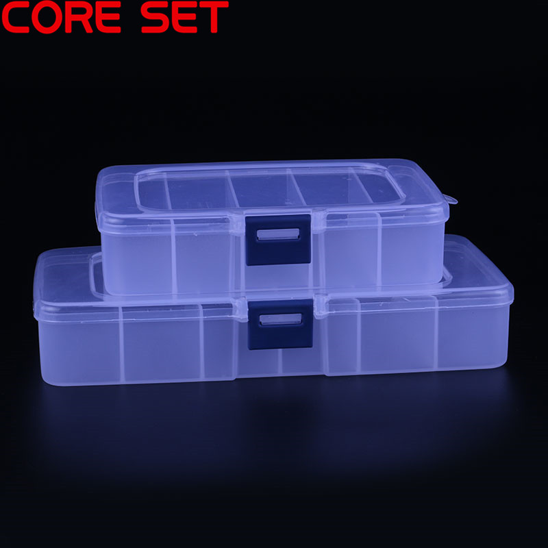 5/6 Grids Plastic Tool Box Screws IC Jewelry Beads Fishing Storage Box Craft Organizer Small Part Container Case